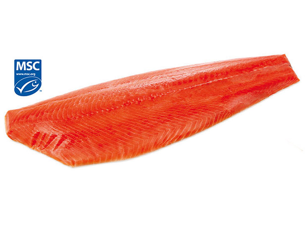 Smoked Salmon whole side prepared, Alasca, Wild, approx. 1,2 kg